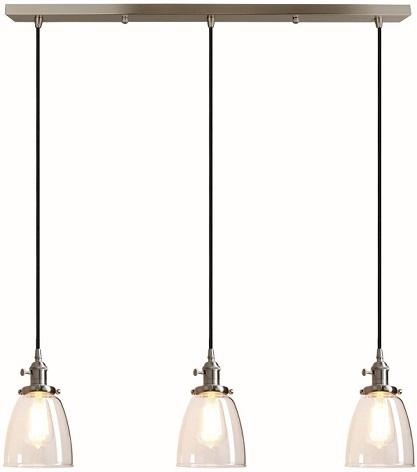 Pathson Industrial 3-Light Pendant Lighting