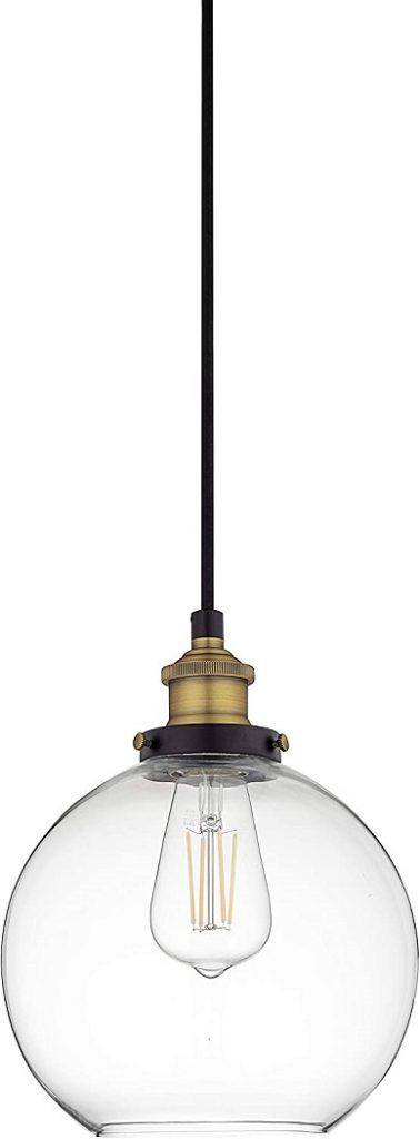 Primo Large Glass Globe Pendant Light