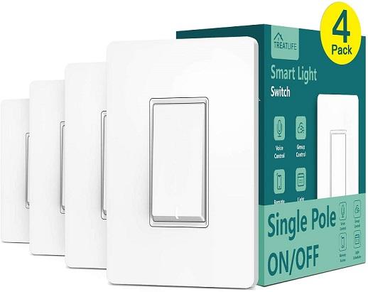 Single Pole Treatlife Smart Light Switch