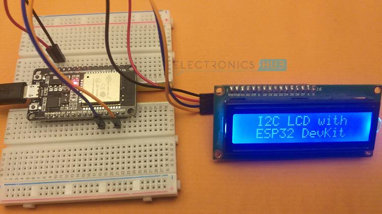 ESP32-I2C-LCD-Text
