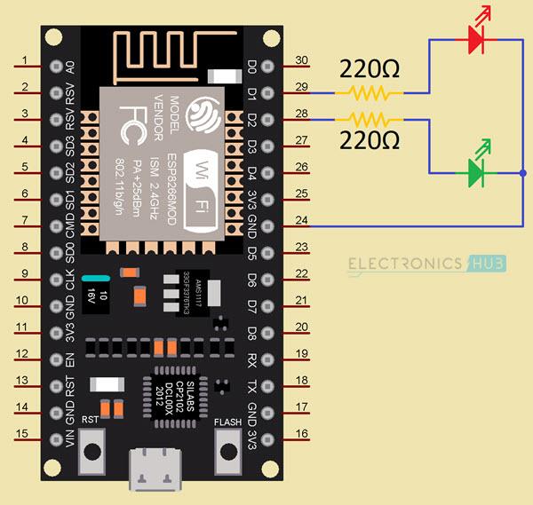 ESP8266-Web-Server-Circuit