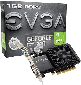 EVGA GT 710 1GB DDR3 Graphics Card