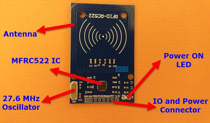 RC522-RFID-Module-Layout