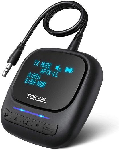 TOKSEL Visible Bluetooth 5.0 Transmitter Receiver