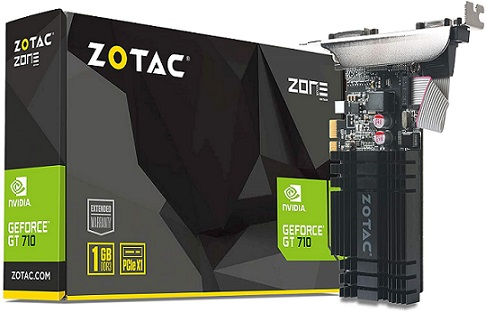 ZOTAC GeForce GT 710 1GB DDR3 Graphics Card