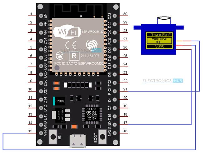 ESP32-Servo-Control-Circuit