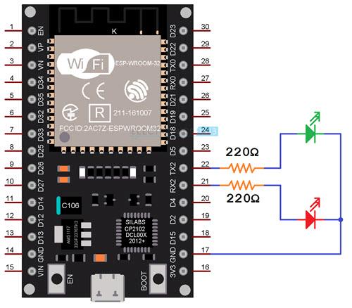 ESP32-Web-Server-Circuit