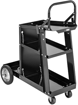 VIVOHOME Iron 3 Tiers Welding Cart