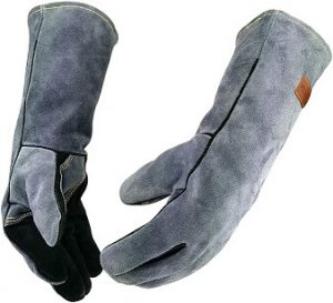 WZQH 16 Inches Leather Forge Welding Gloves