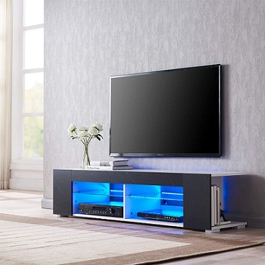 Cabinet TV Stand with LED Lights