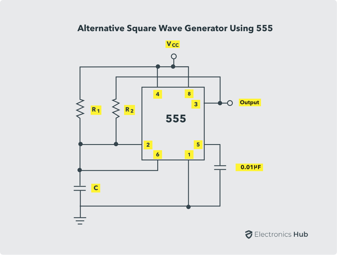 Alternative Squarewave Generator using 555