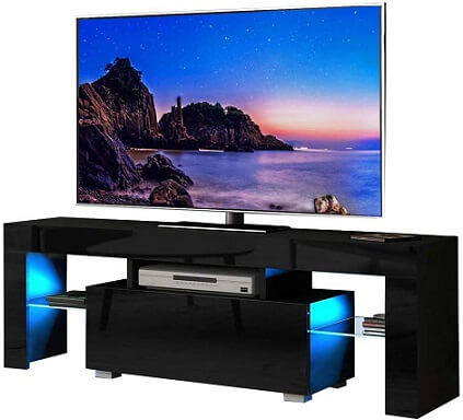 Henf TV Stand with LED Lights