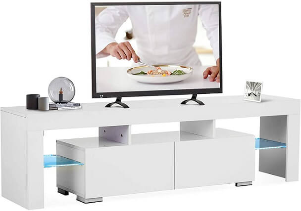 Macor TV Stand with LED Lights