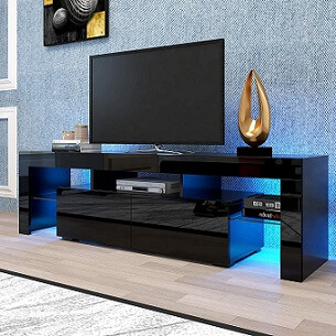 Jeerbly TV Stand with LED Lights