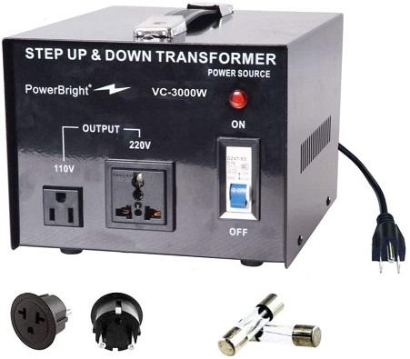 PowerBright Voltage Converter Transformer