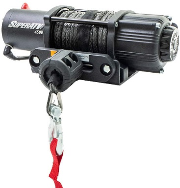 SuperATV 4500 lbs UTV ATV Black Ops Winch