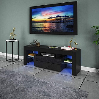 LUKKC TV Stand with LED Lights