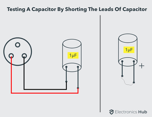 Test a Capacitor by Shorting Leads