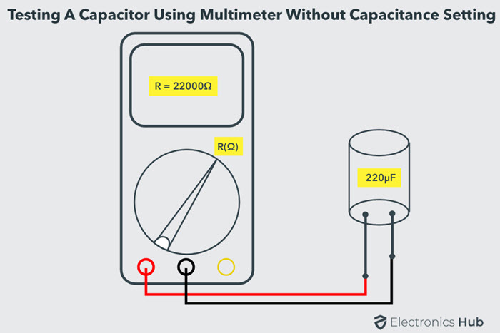 Test a Capacitor with Multimeter without Capacitance
