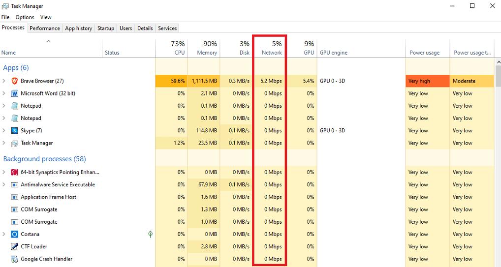 Wifin Bandwidth Heavy task