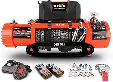 X-BULL 13000 lbs Synthetic Rope Winch