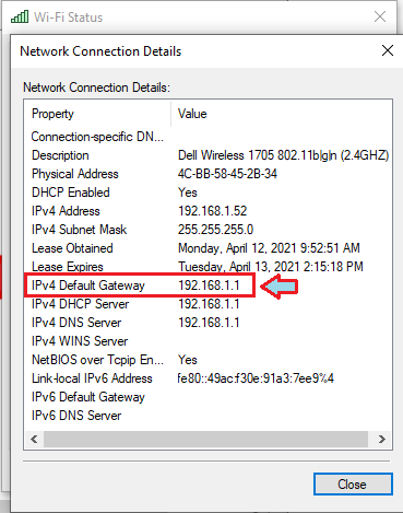 How to Find Router IP Address using Control Panel