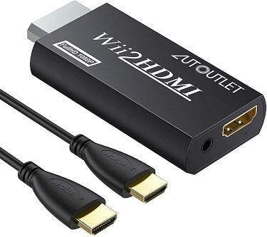 AUTOUTLET Wii to HDMI Converter
