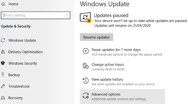 Disable Automatic Updates for Better Windows 10 Gaming