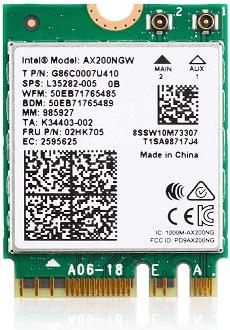 EDUP WiFi 6 AX200NGW M.2 Wi-Fi Card