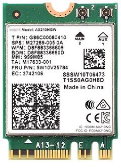 REKONG AX210NGWM.2 Wi-Fi Card