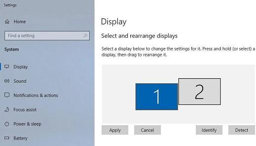 Select rearrange display