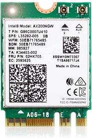 Ubit WiFi 6 AX200 M.2 Wi-Fi Card
