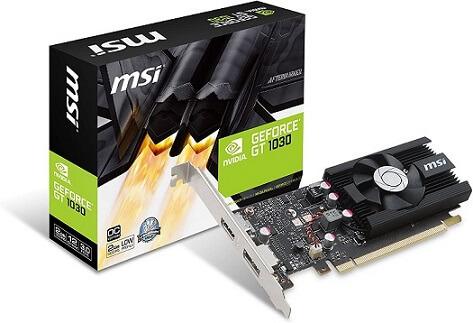 MSI GT 1030 2G LP OC Graphics Card