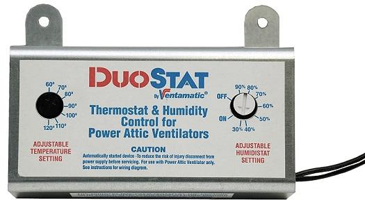 Ventamatic XXDUOSTAT Adjustable Dual Thermostat