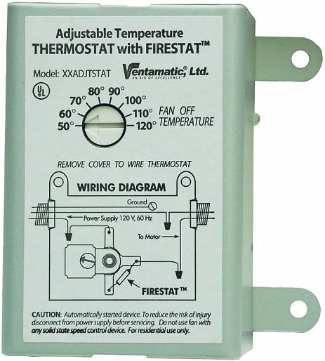 Ventamatic XXFIRESTAT 10-Amp Adjustable Programmable Thermostat