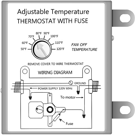iPower Adjustable Programmable Thermostat