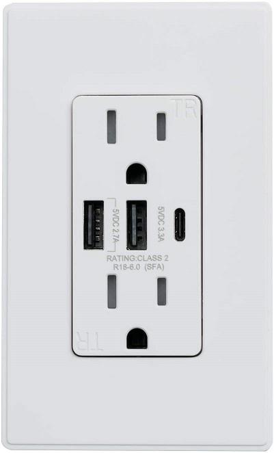 ELEGRP USB Wall Surge Protector