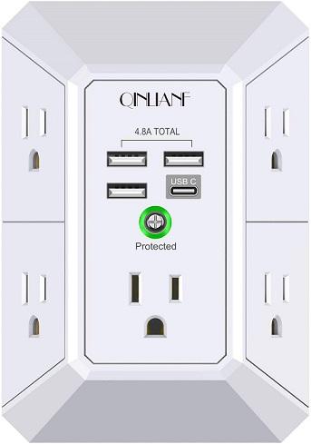 QINLIANF USB Wall Surge Protector