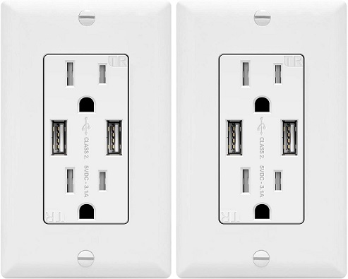 TOPGREENER USB Wall Charger Surge Protector